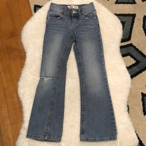 Girls LEI distressed jeans slim size 6S
